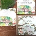 EGYEDI FESTETT HÁTTERŰ Rusztikus Esküvői meghívó, Virágos, szőlő, bor, natúr, eger, egri vár, vadvirágos tavaszi meghívó, Esküvő, Naptár, képeslap, album, Meghívó, ültetőkártya, köszönőajándék, Képeslap, levélpapír, Egyedi Festett Hátterű Minőségi Rusztikus Esküvői Meghívó  Szeretnéd, hogy az esküvő vagy első rande..., Meska