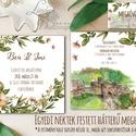 EGYEDI FESTETT HÁTTERŰ Rusztikus Esküvői meghívó, Virágos, szőlő, bor, Rusztikus Esküvői lap, vadvirágos tavaszi meghívó, Esküvő, Naptár, képeslap, album, Meghívó, ültetőkártya, köszönőajándék, Képeslap, levélpapír, Egyedi Festett Hátterű Minőségi Rusztikus Esküvői Meghívó  Szeretnéd, hogy az esküvő vagy első rande..., Meska