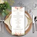Esküvői Asztalszám, Menü, Itallap, Étlap, Vacsora, Nyári Esküvő, mályva, rózsa, romantikus, Esküvői dekor, Asztal dekor, Esküvő, Naptár, képeslap, album, Meghívó, ültetőkártya, köszönőajándék, Képeslap, levélpapír, Asztalszám, Nyári Esküvőre tökéletes Design!  Kiemelkedő dekorációja lehet az Esküvői Asztaloknak.  ..., Meska