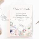 Pasztell Virágos Esküvői meghívó, Nyári Esküvő, rózsa, elegáns, romantikus, tavaszi, virágos meghívó, rózsás, kövirózsa, Esküvő, Naptár, képeslap, album, Meghívó, ültetőkártya, köszönőajándék, Esküvői dekoráció, Minőségi Virágos Esküvői  Meghívó  * MEGHÍVÓ CSOMAG: - Meghívó egy lap, egy oldalas: kb.: 14cm x 10c..., Meska
