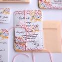 Esküvői meghívó, Virágos Esküvői lap, Esküvő Képeslap, rózsa lap,  rózsaszín meghívó, Esküvő, Naptár, képeslap, album, Meghívó, ültetőkártya, köszönőajándék, Képeslap, levélpapír, Minőségi Virágos Esküvői Meghívó  * MEGHÍVÓ CSOMAG BORÍTÉKKAL: - 1. -Meghívó lap, egy oldalas: kb.: ..., Meska