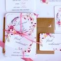 Vintage Esküvői meghívó, Romantikus, elegáns meghívó, marsala, Barack virág, virágos meghívó, Modern, mezei, rétivirág, , Esküvő, Naptár, képeslap, album, Meghívó, ültetőkártya, köszönőajándék, Képeslap, levélpapír, Minőségi Virágos Esküvői Meghívó  * MEGHÍVÓ CSOMAG BORÍTÉKKAL: - 1. -Meghívó lap, egy oldalas: kb.: ..., Meska