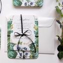 Erdei Esküvői meghívó, Natúr Esküvő, Rusztikus meghívó, erdei virágos, vad virág, Bohém, zöld, fehér, réti virág, erdő, Esküvő, Naptár, képeslap, album, Meghívó, ültetőkártya, köszönőajándék, Esküvői dekoráció, Minőségi Virágos Esküvői  Meghívó  * MEGHÍVÓ CSOMAG BORÍTÉKKAL: - 1.  -Meghívó lap, egy oldalas: kb...., Meska