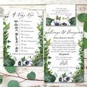 Erdei Esküvői meghívó, Greenery Esküvő, Rusztikus meghívó, erdei virágos, vad virág, Bohém, zöld, fehér, réti, erdő, Esküvő, Naptár, képeslap, album, Meghívó, ültetőkártya, köszönőajándék, Esküvői dekoráció, Minőségi Virágos Esküvői  Meghívó  * MEGHÍVÓ CSOMAG BORÍTÉKKAL: - 1.  -Meghívó lap, egy oldalas: kb...., Meska