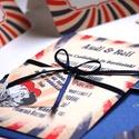 RETRO meghívó, Retro Esküvő, Vintage meghívó, Pop art, Pop, Rocky, 50's, 1950-es évek, nyári meghívó, retro party, buli, Esküvő, Naptár, képeslap, album, Meghívó, ültetőkártya, köszönőajándék, Képeslap, levélpapír, Retro Esküvői meghívó, Amerikai stílusú Egyedi Igényes Esküvői meghívó szett, prémium borítékkal.  *..., Meska