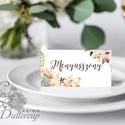 Esküvői ültetőkártya, kövirózsa, ültető, névkártya, név tábla, Esküvői ültető, natúr, természetközeli, kövirózsás, Esküvő, Dekoráció, Meghívó, ültetőkártya, köszönőajándék, Esküvői dekoráció, Igényes, sátras, két oladalas asztali ültetőkártya  MÉRETE összehajtva: kb: 4.5x9.2cm  * SZERKESZTÉS..., Meska