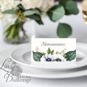 Elegáns ültetőkártya, rusztikus esküvő, party kártya, vintage, Esküvői ültető, natúr, romantikus, Esküvő, Naptár, képeslap, album, Meghívó, ültetőkártya, köszönőajándék, Esküvői dekoráció, Igényes, sátras, két oladalas asztali ültetőkártya  MÉRETE összehajtva: kb: 4.5x9.2cm  * SZERKESZTÉS..., Meska