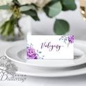 Esküvői ültetőkártya, meghívó, rózsa lap, rózsaszín Esküvői ültető, Esküvő Képeslap, virágos lap,, Esküvő, Naptár, képeslap, album, Meghívó, ültetőkártya, köszönőajándék, Esküvői dekoráció, Igényes, sátras, két oladalas asztali ültetőkártya  MÉRETE összehajtva: kb: 4.5x9.2cm  * SZERKESZTÉS..., Meska