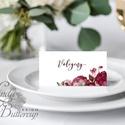 Esküvői ültető kártya, Romantikus, Rózsás, ültető, hely, asztal, Esküvői dekor, Virágos, Party, Esküvő, Naptár, képeslap, album, Meghívó, ültetőkártya, köszönőajándék, Esküvői dekoráció, Igényes, sátras, két oldalas asztali ültetőkártya  MÉRETE összehajtva: kb: 4.5x9.2cm  * SZERKESZTÉSI..., Meska