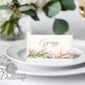 Esküvői ültetőkártya, rusztikus, elegáns esküvő, party kártya, vintage, Esküvői ültető, natúr, romantikus, Esküvő, Dekoráció, Meghívó, ültetőkártya, köszönőajándék, Esküvői dekoráció, Igényes, sátras, két oldalas asztali ültetőkártya  MÉRETE összehajtva: kb: 4.5x9.2cm  * SZERKESZTÉSI..., Meska