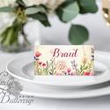 Esküvői ültetőkártya, réti virágos, rusztikus, elegáns esküvő, party kártya, vintage, Esküvői ültető, natúr, romantikus, Esküvő, Dekoráció, Meghívó, ültetőkártya, köszönőajándék, Esküvői dekoráció, Igényes, sátras, két oldalas asztali ültetőkártya  MÉRETE összehajtva: kb: 4.5x9.2cm  * SZERKESZTÉSI..., Meska