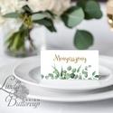 Esküvői ültető kártya, ültető, névkártya, név tábla, Esküvői dekor, dekoráció, levél, natúr, greenery, természetközeli, Esküvő, Naptár, képeslap, album, Meghívó, ültetőkártya, köszönőajándék, Esküvői dekoráció, Igényes, sátras, két oladalas asztali ültetőkártya  MÉRETE összehajtva: kb: 4.5x9.2cm  * SZERKESZTÉS..., Meska