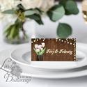 Esküvői ültető kártya, ültető, névkártya, név tábla, Esküvői dekor, dekoráció, pajta, rusztikus, virágos, vintage, Esküvő, Naptár, képeslap, album, Meghívó, ültetőkártya, köszönőajándék, Esküvői dekoráció, Igényes, sátras, két oldalas asztali ültetőkártya  MÉRETE összehajtva: kb: 4.5x9.2cm  * SZERKESZTÉSI..., Meska