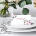 Esküvői ültető kártya, ültető, névkártya, név tábla, Esküvői dekor, dekoráció, virágos, rózsás, romantikus, vintage, núd, Esküvő, Naptár, képeslap, album, Meghívó, ültetőkártya, köszönőajándék, Esküvői dekoráció, Igényes, sátras, két oldalas asztali ültetőkártya  MÉRETE összehajtva: kb: 4.5x9.2cm  * SZERKESZTÉSI..., Meska
