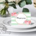 Esküvői ültető kártya, ültető, névkártya, név tábla, Esküvői dekor, dekoráció, virágos, nyár, rózsa, romantikus, vintage, Esküvő, Naptár, képeslap, album, Meghívó, ültetőkártya, köszönőajándék, Esküvői dekoráció, Igényes, sátras, két oldalas asztali ültetőkártya  MÉRETE összehajtva: kb: 4.5x9.2cm  * SZERKESZTÉSI..., Meska