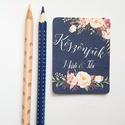 Köszönetkártya,  Rusztikus, kék, virágos ültető, ültetésirend, hely kártya, virágos esküvői dekoráció, Esküvő, Naptár, képeslap, album, Meghívó, ültetőkártya, köszönőajándék, Esküvői dekoráció, Igényes köszönetkártya, ajándékkísérő   * MÉRETE: kb: 5.4 x 8 cm Más méret is kérhető, vásárláskor h..., Meska