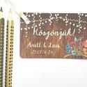 Köszönetkártya,  Rusztikus, natúr, virágos ültető, ültetésirend, hely kártya, virágos esküvői dekoráció, Esküvő, Naptár, képeslap, album, Meghívó, ültetőkártya, köszönőajándék, Esküvői dekoráció, Igényes köszönetkártya, ajándékkísérő lyukasztva szalaggal kötve  * MÉRETE: kb: 5.8 x 3.9 cm Más mér..., Meska