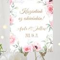 Esküvői Poszter A3, Esküvői kép, Esküvő Dekor, Felirat, Tábla, Vintage, Elegáns, Virágos, Rusztikus, Welcome, vendégváró, Esküvő, Otthon & lakás, Esküvői dekoráció, Dekoráció, Kép, A/3-as Esküvői Poszter, bármilyen egyszerű felirattal, keret nélkül.  Tökéletes kellék & Dekor Elegá..., Meska