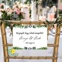 Esküvői Felirat A4, Menü, Itallap, Esküvő Dekor, Esküvői felirat, borostyán, greenery, erdei, erdő, zöld, Esküvő, Dekoráció, Esküvői dekoráció, Kép, A4 Esküvői PAPÍR KÉP /  Akasztós vagy Keretbe  MÉRET: A4: (210x297mm)  KIVITELEZÉS:  Lekerekített sa..., Meska
