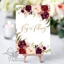 férj és feleség, Esküvői felirat, Dekoráció, kellék, Esküvői lap, Esküvő Dekor, kártya, desszert, menü, ital, Esküvő, Dekoráció, Esküvői dekoráció, Kép, 10x15 cm-es felirat Esküvői kártya / Lap. Standard álló képkeretbe, asztalra.  Egyéb standard képker..., Meska
