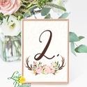 Asztalszám kártya, Ültetési rend, Dekoráció, kellék, Esküvői lap, Esküvő Dekor, Esküvői felirat, kártya, desszert, Esküvő, Dekoráció, Esküvői dekoráció, Kép, 13x18 cm-es ASZTALSZÁM Esküvői kártya / Lap.  Standard álló képkeretbe, asztalra.  (A képen a tartó/..., Meska