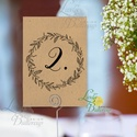 Asztalszám kártya, barna, kraft, natúr, újrahasznosított papír, Dekoráció, Esküvői lap, Esküvő Dekor, Esküvői felira, Esküvő, Dekoráció, Esküvői dekoráció, Kép, 10x15 cm-es ASZTALSZÁM Esküvői kártya / Lap.  Standard álló képkeretbe, asztalra.  (A képen a tartó ..., Meska