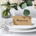 Esküvői ültető kártya, ültető, névkártya, név tábla, Esküvői dekor, dekoráció, rusztikus, letisztult, újrahasznosított, Esküvő, Naptár, képeslap, album, Meghívó, ültetőkártya, köszönőajándék, Esküvői dekoráció, Igényes, sátras, két oldalas asztali ültetőkártya  MÉRETE összehajtva: kb: 4.5x9.2cm  * SZERKESZTÉSI..., Meska