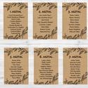 Ültetési rend, Asztalszámok, Esküvői ültetésirend, Ültetők, Ültetésrend, Esküvő ültető kártya, barna, natúr, kraft, Esküvő, Naptár, képeslap, album, Meghívó, ültetőkártya, köszönőajándék, Esküvői dekoráció, Esküvői Ültetési rend   9db lap / 8 asztal + 1Főasztal  Gyönyörű Igényes Esküvői Ültetési rend Akasz..., Meska