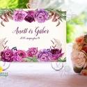 Esküvői Felirat A4, Köszöntő, Üdvözlő, Esküvői felirat, bordó, őszi, rózsa, welcome, idézet, vers, burgundy, Esküvő, Dekoráció, Esküvői dekoráció, Kép, A4 Esküvői PAPÍR KÉP /  Akasztós vagy Keretbe  MÉRET: A4: (210x297mm)  KIVITELEZÉS:  Lekerekített sa..., Meska