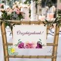 Esküvői Felirat A4, Menü, Itallap, Esküvő Dekor, Esküvői felirat, burgundy, rózsás, bordó, őszi, vintage, arany, Esküvő, Dekoráció, Esküvői dekoráció, Kép, A4 Esküvői PAPÍR KÉP /  Akasztós vagy Keretbe  MÉRET: A4: (210x297mm)  KIVITELEZÉS:  Lekerekített sa..., Meska