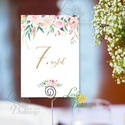 Asztalszám kártya, újrahasznosított papír, Dekoráció, Esküvői lap, Esküvő Dekor, rózsás, virágos, Esküvő, Dekoráció, Esküvői dekoráció, Kép, 10x15 cm-es ASZTALSZÁM Esküvői kártya / Lap.  Standard álló képkeretbe, asztalra.  (A képen a tartó ..., Meska