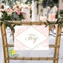 Esküvői Felirat A5, Férj és feleség, MR and Mrs, geometrikus, geometriai, rombusz, diamond, márvány, Esküvő, Dekoráció, Esküvői dekoráció, Kép, A5 Esküvői PAPÍR KÉP /  Akasztós vagy Keretbe  MÉRET: A5: (148x210mm)  KIVITELEZÉS: Akaszthatós verz..., Meska