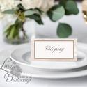 Esküvői ültetőkártya, ültető, geometrikus, márvány, bronz, bézs, ültető, ültetésirend, virágos, rózsakert, barack, Esküvő, Naptár, képeslap, album, Meghívó, ültetőkártya, köszönőajándék, Esküvői dekoráció, Igényes, sátras, két oladalas asztali ültetőkártya  MÉRETE összehajtva: kb: 4.5x9.2cm  * SZERKESZTÉS..., Meska