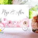Esküvői Felirat A4, Köszöntő, Üdvözlő, Esküvői felirat, arany, welcome, idézet, vers, szürke, púder, virágos, pink, Esküvő, Dekoráció, Esküvői dekoráció, Kép, A4 Esküvői PAPÍR KÉP /  Akasztós vagy Keretbe  MÉRET: A4: (210x297mm)  KIVITELEZÉS:  Lekerekített sa..., Meska