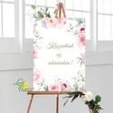 Esküvői Poszter A2, Esküvői kép, Esküvő Dekor, Felirat, Tábla, Vintage, Elegáns, Virágos, Rusztikus, Welcome, vendégváró, Esküvő, Dekoráció, Esküvői dekoráció, Kép, A/2-es Esküvői Poszter, bármilyen egyszerű felirattal, keret nélkül.  MÉRET: A2 (420x594mm)  ANYAG: ..., Meska