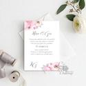 Virágos Esküvői meghívó, Virágos Esküvői lap, Esküvő Képeslap, virágkoszorú, pink, bazsarózsa, rózsás, virágos meghívó, Esküvő, Naptár, képeslap, album, Meghívó, ültetőkártya, köszönőajándék, Képeslap, levélpapír, Minőségi Virágos Esküvői  Meghívó  * MEGHÍVÓ CSOMAG: - Meghívó egy lap, egy oldalas: kb.: 14cm x 10c..., Meska