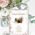 Polaroid fotó Esküvői Felirat A4, fénykép, fotó albumhoz, Esküvői kép, Esküvő Dekor, Esküvői felirat, bazsarózsa, rózsa, Esküvő, Dekoráció, Esküvői dekoráció, Kép, A/4-es Esküvői Felirat Dekoráció, bármilyen szöveggel, keret nélkül.  Bármilyen feliratot kérhetsz r..., Meska