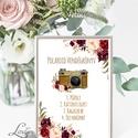 Polaroid fotó Esküvői Felirat A4, fénykép, fotó albumhoz, Esküvői kép, Esküvő Dekor, Esküvői felirat, virágos, virág, Esküvő, Dekoráció, Esküvői dekoráció, Kép, A/4-es Esküvői Felirat Dekoráció, bármilyen szöveggel, keret nélkül.  Bármilyen feliratot kérhetsz r..., Meska