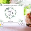 Esküvői Felirat A4, Köszöntő, Üdvözlő, idézet, greenery, zöld leveles, természetközeli, borostyán, eukaliptusz, Esküvő, Dekoráció, Esküvői dekoráció, Kép, A4 Esküvői PAPÍR KÉP /  Akasztós vagy Keretbe  MÉRET: A4: (210x297mm)  KIVITELEZÉS:  Lekerekített sa..., Meska