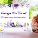 Esküvői Felirat A4, Köszöntő, Üdvözlő, idézet, virágos, lila, természetközeli, természetbarát, romantikus, Esküvő, Dekoráció, Esküvői dekoráció, Kép, A4 Esküvői PAPÍR KÉP /  Akasztós vagy Keretbe  MÉRET: A4: (210x297mm)  KIVITELEZÉS:  Lekerekített sa..., Meska