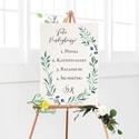 Esküvői Poszter A3, Esküvői kép, Esküvő Dekor, Felirat, Tábla, greenery, zöld leveles, természetközeli, eukaliptusz, Esküvő, Dekoráció, Esküvői dekoráció, Kép, A/3-as Esküvői Poszter, bármilyen egyszerű felirattal, keret nélkül.  Tökéletes kellék & Dekor Elegá..., Meska