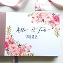 FOTÓ ALBUM KÖNYV, Esküvői Emlékkönyv, Greenery, Arany, Vendégkönyv, könyv, Natúr,zöld levelek, Esküvői vendégkönyv, Esküvő, Naptár, képeslap, album, Nászajándék, Esküvői dekoráció, Esküvői A5-ös Emlékkönyv fotók ragasztására!  Gyönyörű Igényes Esküvői Emlékkönyv, A5-ös méret, 70 p..., Meska