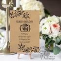 Polaroid fotó Esküvői Felirat A4, fénykép, fotó albumhoz, Esküvői kép, Dekor, Esküvői felirat, natúr, kraft, barna, Esküvő, Dekoráció, Esküvői dekoráció, Kép, A/4-es Esküvői Felirat Dekoráció, bármilyen szöveggel, keret nélkül.  Bármilyen feliratot kérhetsz r..., Meska