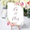 Férj és feleség felirat, asztalszám, desszert asztal, Dekoráció, Esküvői lap, Esküvő Dekor, Esküvői felirat, virágos, Esküvő, Dekoráció, Esküvői dekoráció, Kép, 10x15 cm-es esküvői felirat Esküvői kártya / Lap.  Standard álló képkeretbe, asztalra.  VÁSÁRLÁSKOR ..., Meska