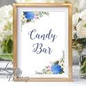 Esküvői felirat, Dekoráció, asztalszám, desszert asztal, Esküvői lap, Esküvő Dekor, Esküvői felirat, virágos, természet, Esküvő, Dekoráció, Esküvői dekoráció, Kép, 10x15 cm-es esküvői felirat Esküvői kártya / Lap.  Standard álló képkeretbe, asztalra.  VÁSÁRLÁSKOR ..., Meska