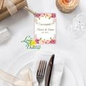 Köszönet kártya, ajándékkísérő,köszönet ajándék, esküvői kísérőkártya, köszönjük, virágos, romantikus, rózsaszín, Esküvő, Naptár, képeslap, album, Meghívó, ültetőkártya, köszönőajándék, Képeslap, levélpapír, Igényes köszönetkártya, ajándékkísérő lyukasztva szalaggal kötve  * MÉRETE: kb: 5.4 x 8 cm Más méret..., Meska