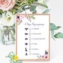 Esküvői felirat, Dekoráció, Program, desszert asztal, Esküvői lap, Esküvő Dekor, Esküvői felirat, virágos, Esküvő, Dekoráció, Esküvői dekoráció, Kép, 10x15 cm-es esküvői felirat Esküvői kártya / Lap.  Standard álló képkeretbe, asztalra.  VÁSÁRLÁSKOR ..., Meska