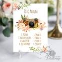 Polaroid fotó Esküvői Felirat A4, fénykép, fotó albumhoz, Esküvői kép, Esküvő Dekor, Esküvői felirat, virágos, Esküvő, Dekoráció, Esküvői dekoráció, Kép, A/4-es Esküvői Felirat Dekoráció, bármilyen szöveggel, keret nélkül.  Bármilyen feliratot kérhetsz r..., Meska
