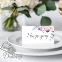 Esküvői ültetőkártya, ültető, virágos ültető, ültetésirend, hely kártya, romantikus, nyugalmas, Esküvő, Naptár, képeslap, album, Meghívó, ültetőkártya, köszönőajándék, Esküvői dekoráció, Igényes, sátras, két oldalas asztali ültetőkártya  MÉRETE összehajtva: kb: 4.5x9.2cm  * SZERKESZTÉSI..., Meska