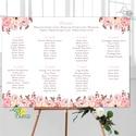 Modern Ültetési rend, Esküvői ültetésirend, Ültetők, Ültetésrend, virágos, rózsaszín, nyugalmas, romantikus, Esküvő, Naptár, képeslap, album, Meghívó, ültetőkártya, köszönőajándék, Esküvői dekoráció, A2 Ültetési rend - PAPÍR POSZTER  MÉRET: A2: (42x59.4cm) Ez a maximum méret amit el tudunk készíteni..., Meska